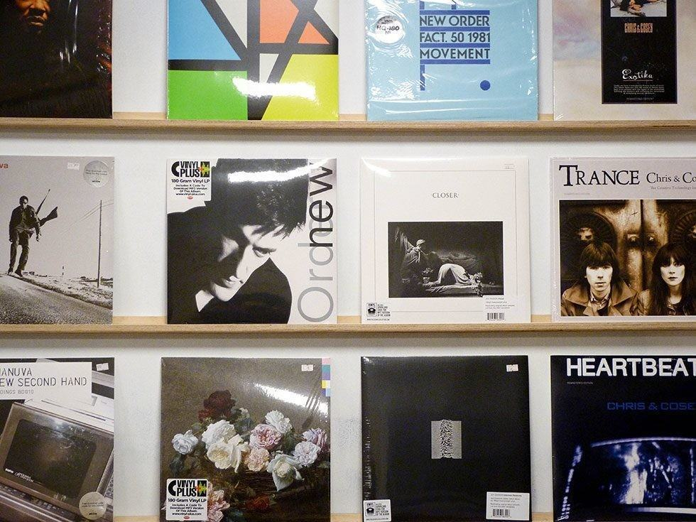 Wall display in 586 Records
